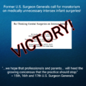 Former U.S. Surgeon Generals Call For Moratorium on  Medically Unnecessary Intersex Infant Surgeries!